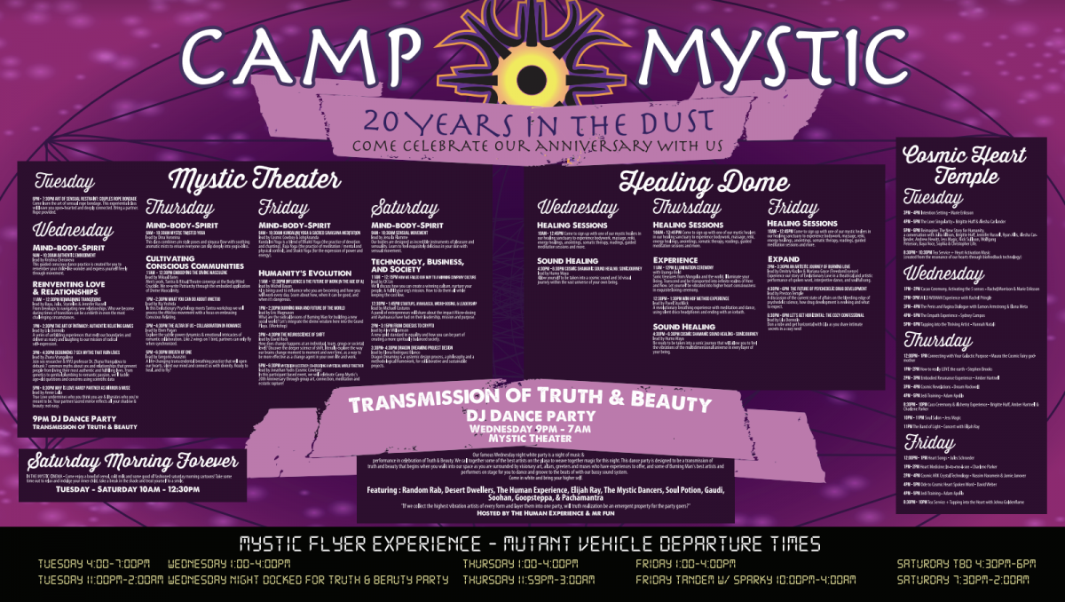 Camp Mystic Official 2018 Events Poster